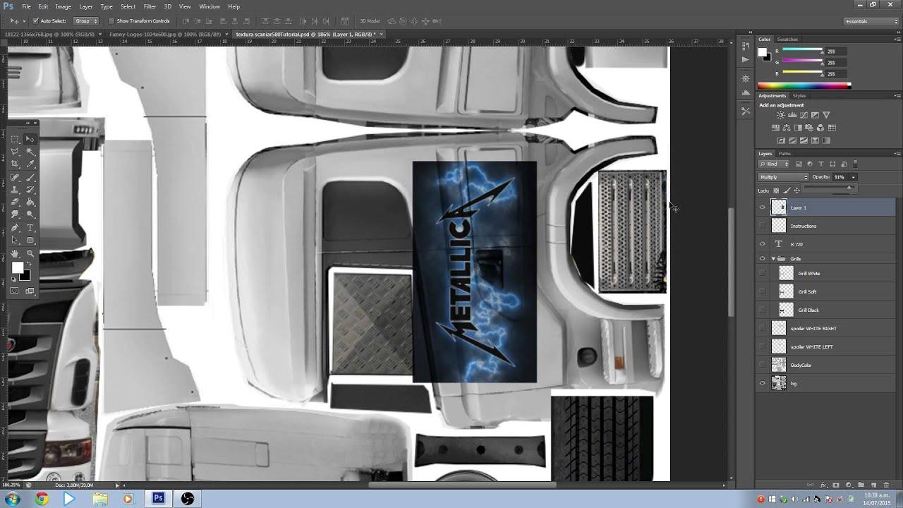 Grand Truck Simulator - Skins con Photoshop