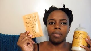 Review- Shea moisture raw shea butter masque and shampoo