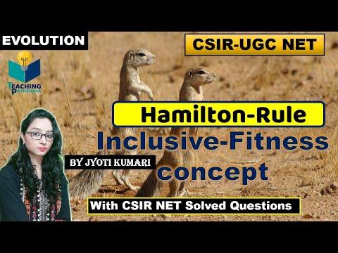 INCLUSIVE FITNESS | HAMILTON RULE | CSIR NET QUESTIONS |CSIR NET|