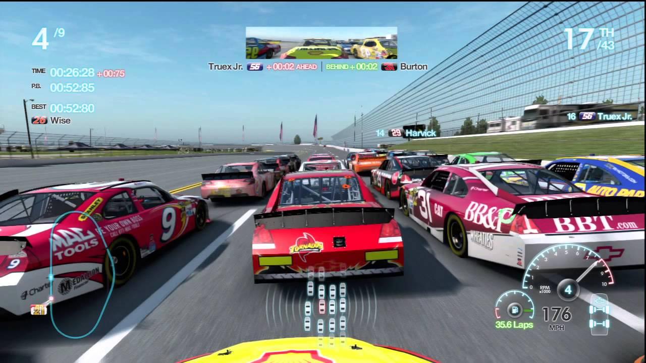 Talladega Chase Race 4 Gameplay Career Mode Nascar The Game Inside Line Race 30 - YouTube