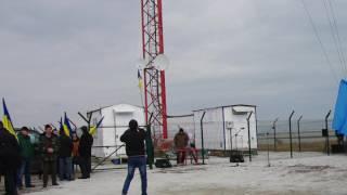 Открытие телекоммуникационной вышки на Чонгаре