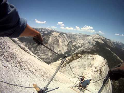 Half Dome Cables  - Descent - Yosemite  - June 3, 2013