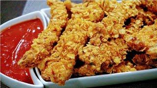 Finger Chicken Recipe | How To Make Chicken Fingers | Chicken Strips | Chicken Fry @Bingiz Kitchen
