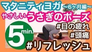 【妊婦ヨガイントラのマタニティヨガ】~妊娠6ヶ月編~やさしいうさぎのポーズ