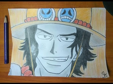 Drawing Portgas D Ace One Piece ون بيس رسم ايس Youtube