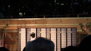 羽田美智子さんの演舞はドラマの撮影も兼ねていたそうです。 撮影:iPhon...