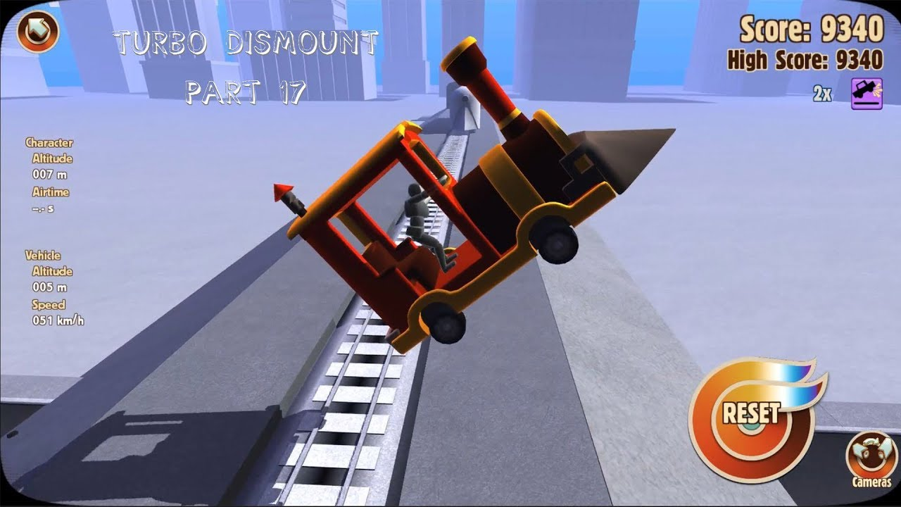 Turbo Dismount (#17) - CHICKEN WITH A TRAIN