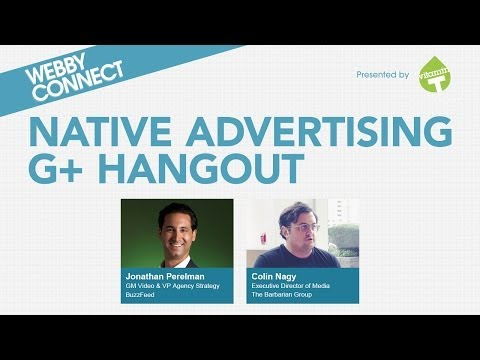 Webby Connect: A Native Advertising Hangout