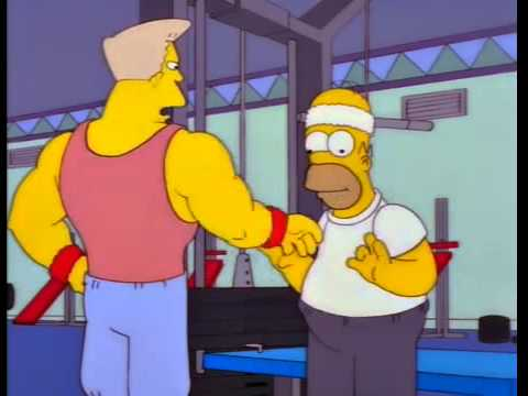 Simpsons - Homer goes to the Gym