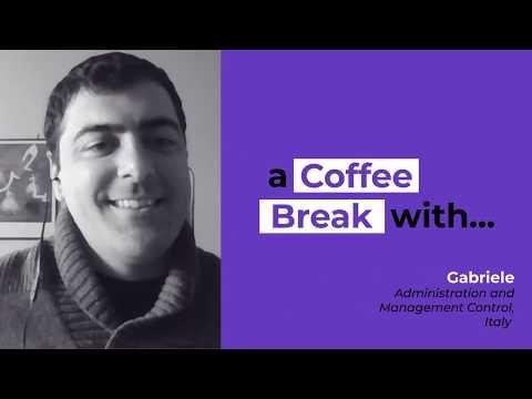 A coffee break with Gabriele