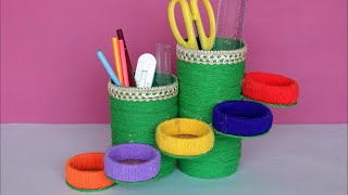 Best Out of Waste Idea    How to make pen stand at Home    DIY Desk Organization Ideas for kids   