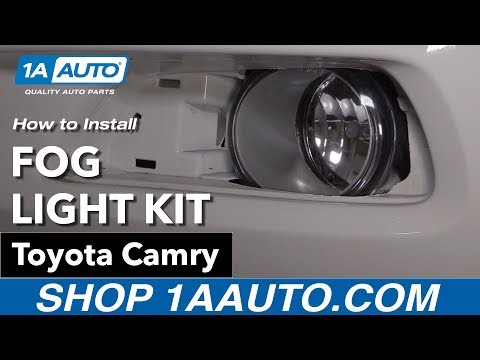 How to Install Clear Lens Fog Light Kit 07-09 Toyota Camry ... Daihatsu Fog Lights Wiring Diagram on