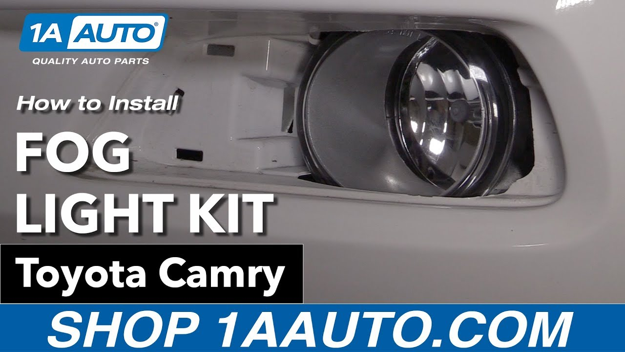 How to Install Clear Lens Fog Light Kit 0709 Toyota Camry