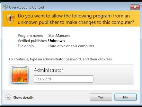 Always Alert To Input Administrator Password