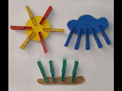 Ролик Поделки и игры с прищепками  - идеи для занятий с детьми