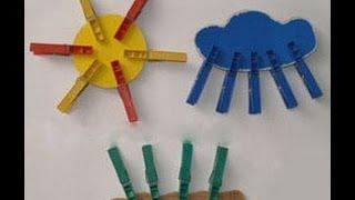 Поделки и игры с прищепками  - идеи для занятий с детьми