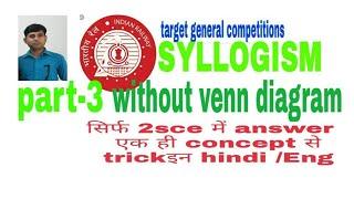 REASONING trick//syllogism rule 100,50 never wrong