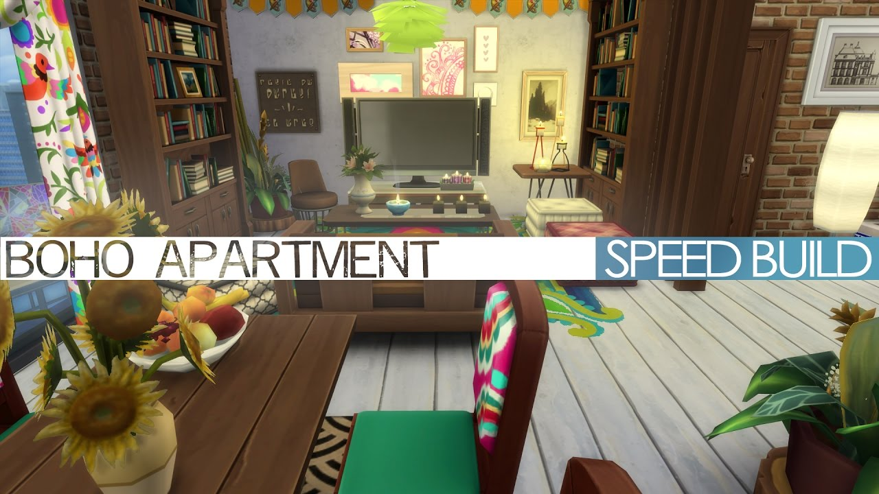 The Sims 4 City Living   Speed Build   BOHO APARTMENT   YouTube