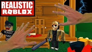 Realistic Roblox - ESCAPE JASON IN ROBLOX! ROBLOX ESCAPE CAMP OBBY! Roblox IRL Animation
