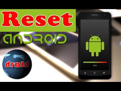 Réinitialiser Téléphone Portable Remise à Zéro D'un Mobile Android.
