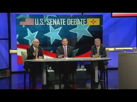 New Mexico's U.S. Senate candidates spar in final televised debate