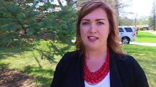 Kate Graham going door to door for Liberal votes in London North Centre