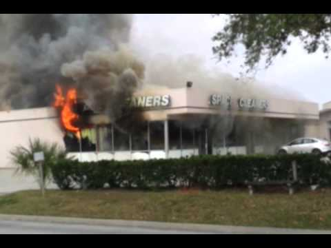 Fire at Space Cleaners, Webster, TX 3/22/13