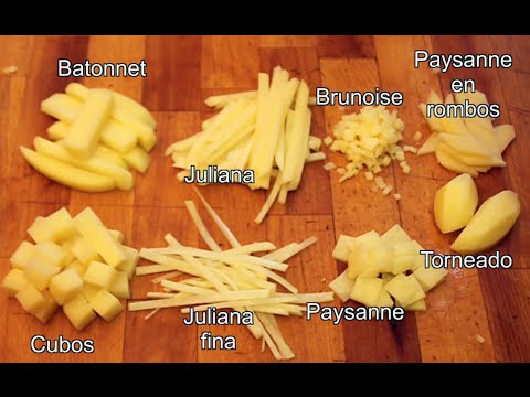 Tipos de cortes b sicos en la cocina youtube for Cortes de verduras gastronomia pdf