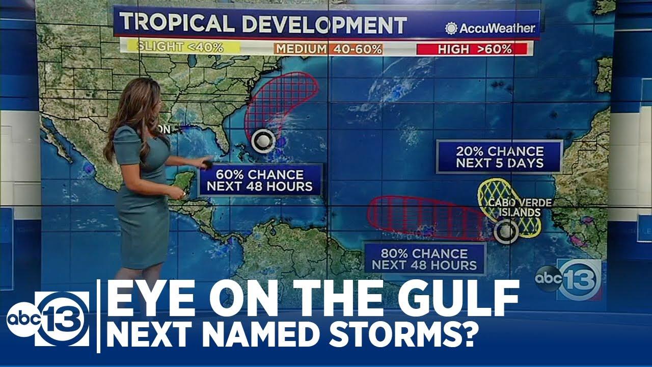 Download Several areas of concern in the Atlantic as Nicholas crawls into Louisiana