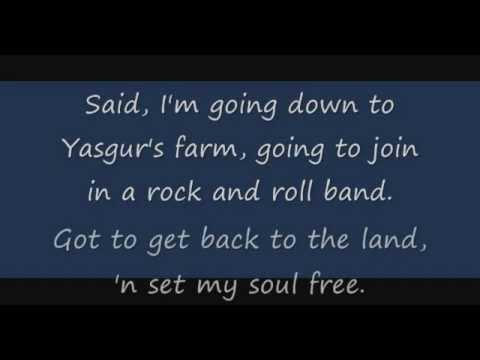 Crosby, Still & Nash - Woodstock Lyrics