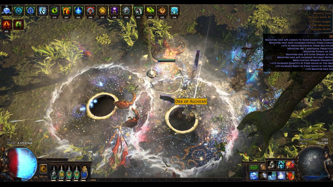 Path of Exile - A Synthesis Zone With `Valuable Harbinger Items`