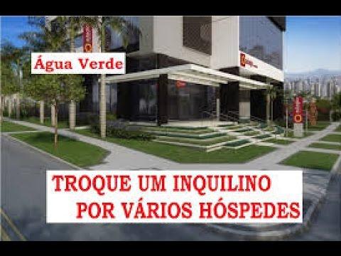 Decorado Adágio Helbor ApartHotel Curitiba Água Verde  investimento 1 Quarto  lançamento
