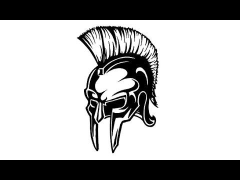 Drawing Spartan Warrior Helmet Speed Drawing Youtube