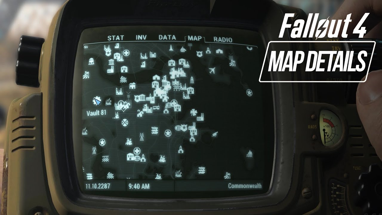 Fallout 4   BIG Open World Map Size  ALL LOCATIONS   Showcase    YouTube