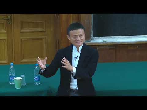 Jack Ma (Alibaba Group, AliExpress) at Lomonosov Moscow Stat