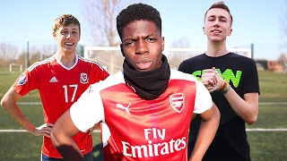 YOUTUBER FOOTBALL CHALLENGE MOMENTS YOU WONT BELIEVE!! ⚽️🔥