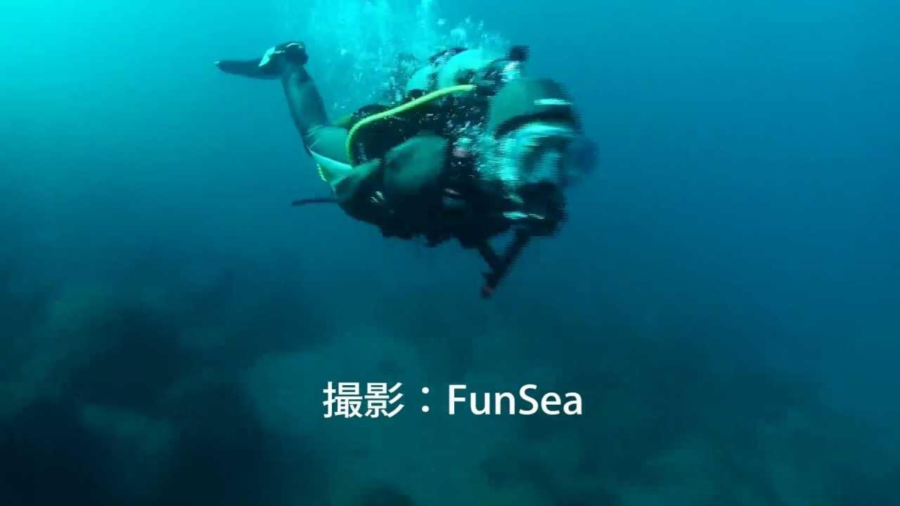 水中スクーターダイビング under...