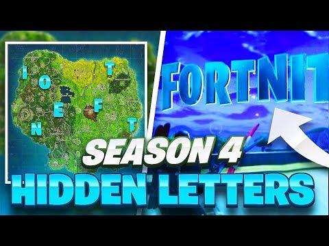 HOW TO FIND ALL F-O-R-T-N-I-T-E Letter Locations Guide (Season 4 Challenge)