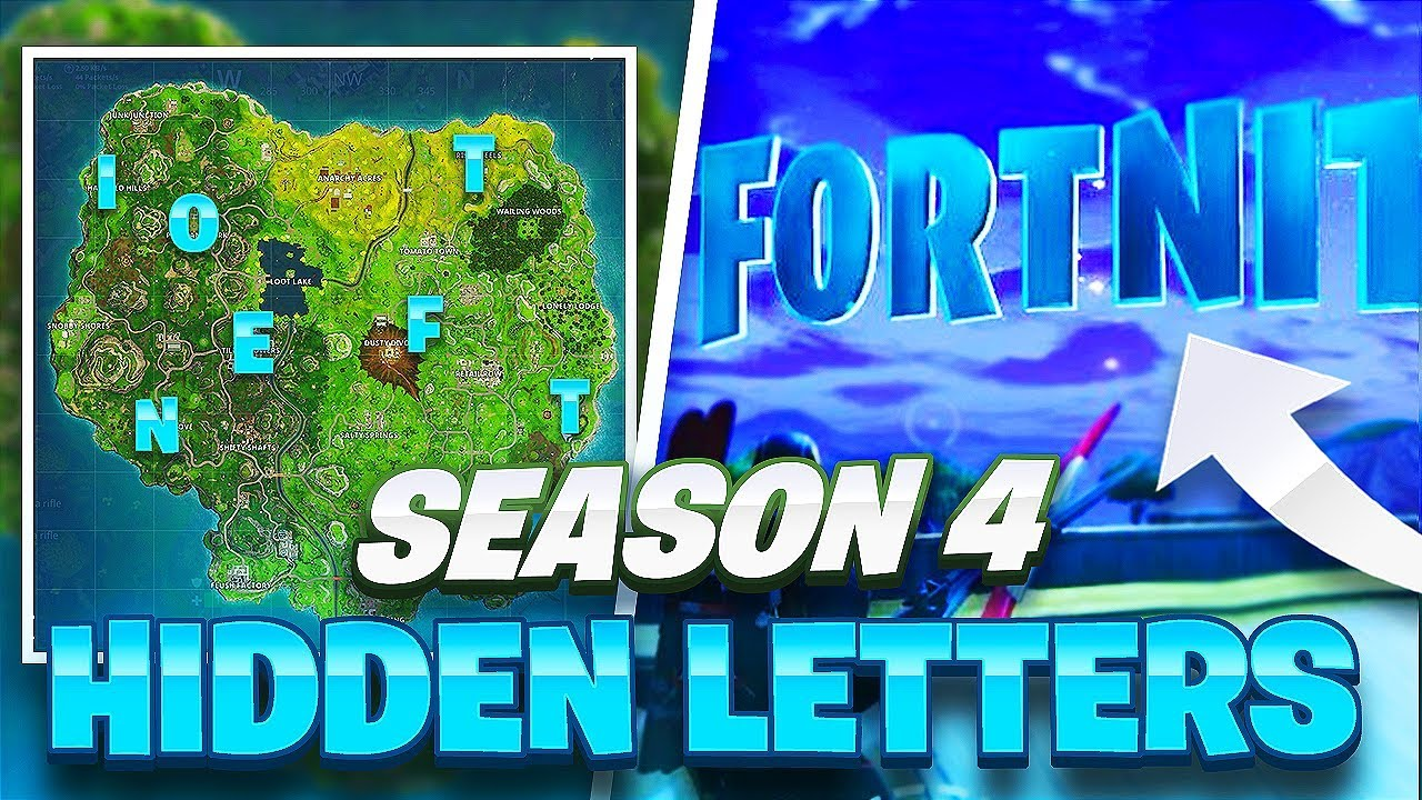 HOW TO FIND ALL F-O-R-T-N-I-T-E Letter Locations Guide ...