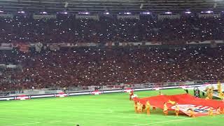 LEBIH BERASA!! Lagu Indonesia Raya  Tanpa Iringan Musik di Final Piala Presiden 2018. ((FULL HD))