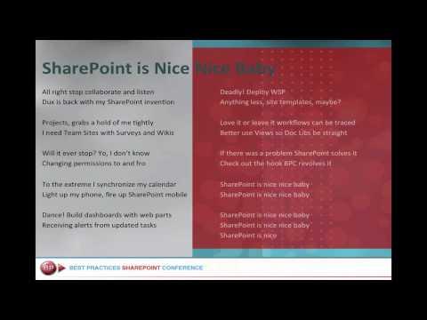 SharePoint is Nice Nice Baby Karaoke Edition