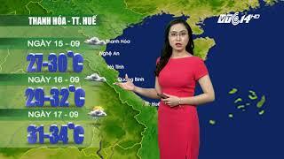 VTC14 | Thời tiết 12h ngày 14/09/2017| Cập nhật diễn biến siêu bão Doksuri - Cơn bão số 10