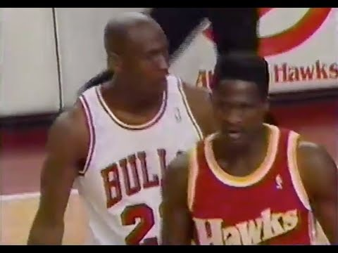 Michael Jordan Defense on Dominique Wilkins - 1993 Playoffs 1st Rd
