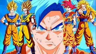 All Super Saiyan Evolutions (All Saiyans) All Transformations | Dragonball super