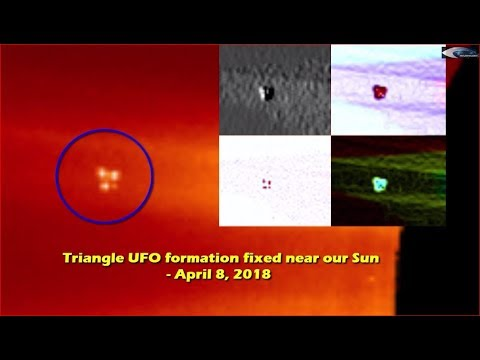 nouvel ordre mondial | Triangle UFO formation fixed near our Sun - April 8, 2018
