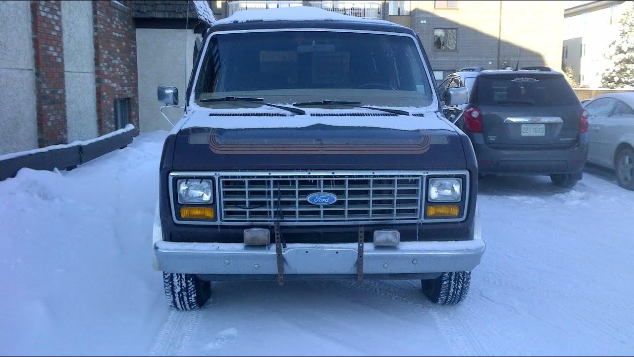 1983 Ford E150 Econoline VanDecor Winter Start  YouTube