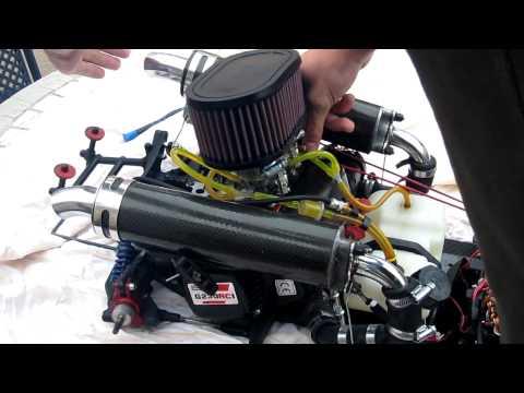 Zenoah 2 Zylinder 1. Testlauf im Stand