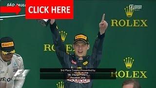 Huldiging Max Verstappen Brazilië 2016 -formule1^?^