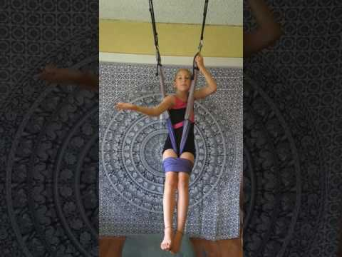 Standing Somersault on a Yoga Trapeze