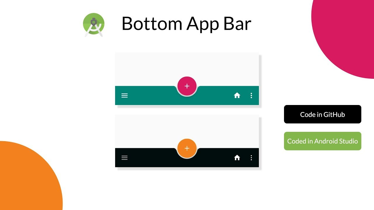Bottom App Bar in Android Studio with Source Code